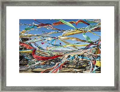 Colourful Tibetan Prayer Flags _lung Framed Print