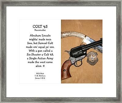 Colt 45 Peacemaker 1 Of 8 Framed Print