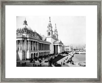 Columbian Expo, Palace Of Mechanic Framed Print