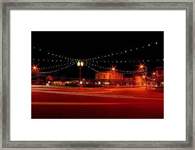 Columbiana Ohio Christmas Framed Print