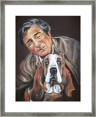 Columbo And Dog Framed Print by Martha Suhocke