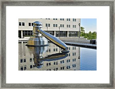 Columbus Ohio Justice Center Framed Print by Frozen in Time Fine Art Photography