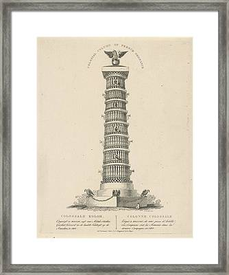Column In Moscow Russia, Christian Anthony Lotter Framed Print