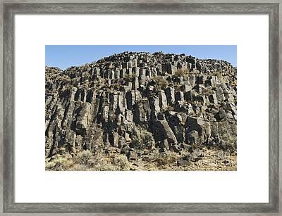 Columnar Basalt Formation Framed Print