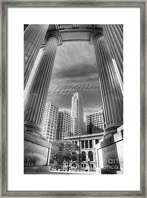 Columns Of War Memorial Framed Print by Twenty Two North Photography