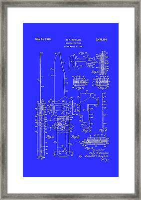 Combination Tool For Outdoors Patent 1949  Framed Print by Mountain Dreams