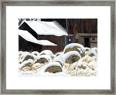 'come See The North Wind's Masonry' Framed Print