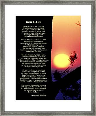 Comes The Dawn Framed Print