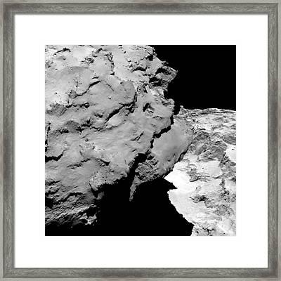 Comet Churyumov-gerasimenko From Rosetta Framed Print by European Space Agency/rosetta/osiris Team