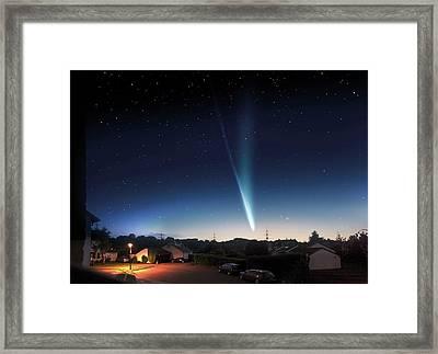 Comet Ison Framed Print