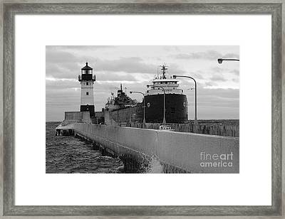 Coming To Port Framed Print