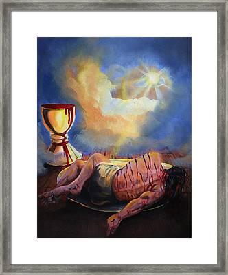 Communion Framed Print by Ricardo Colon
