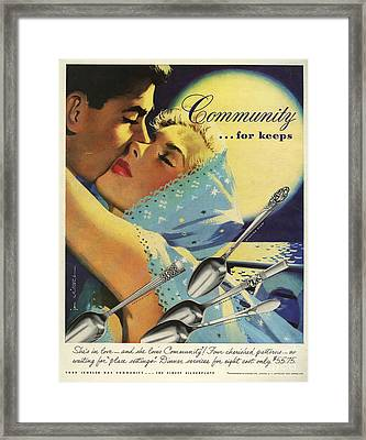 Community Cutlery  1952  1950s Usa Framed Print