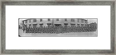 Company E. 371st Infantry Camp Jackson Framed Print by Fred Schutz Collection
