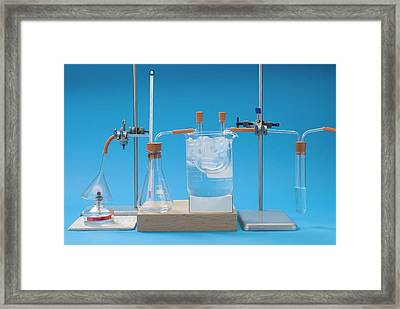Complete Combustion Experiment Framed Print by Trevor Clifford Photography