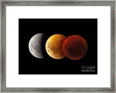 Composite Image Of Lunar Eclipse Framed Print by Philip Hart