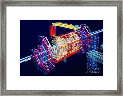 Computer Art Of Atlas Detector, Cern Framed Print by David Parker