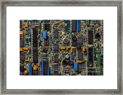 Computer Circuit Board Framed Print