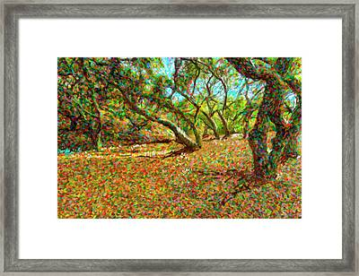 Computer Generated Image Of Autumn Framed Print by Angela A Stanton
