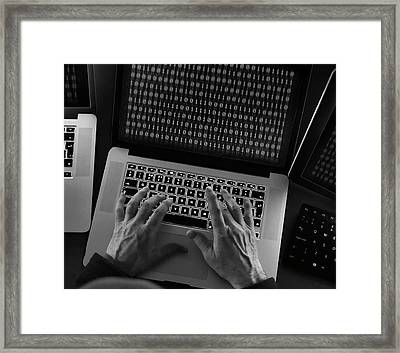 Computer Hacking Framed Print by Tek Image