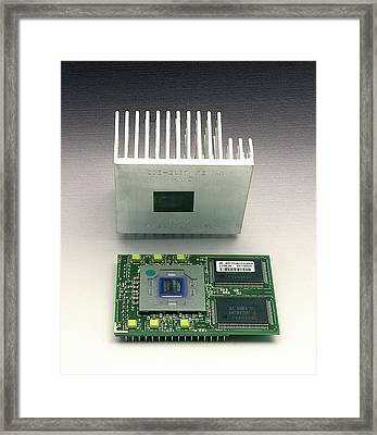 Computer Heat Sink Framed Print by Sheila Terry