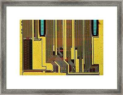 Computer Ram Module Framed Print by Antonio Romero