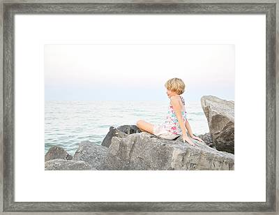 Comtemplating Summer Framed Print