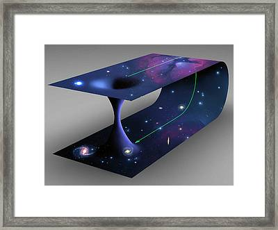 Conceptual Artwork Of A Wormhole Framed Print by Mark Garlick