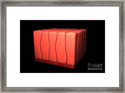 Conceptual Image Of Simple Columnar Framed Print by Stocktrek Images