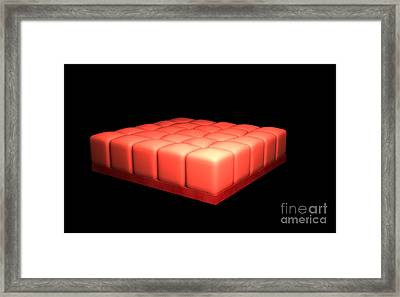 Conceptual Image Of Simple Cuboidal Framed Print by Stocktrek Images