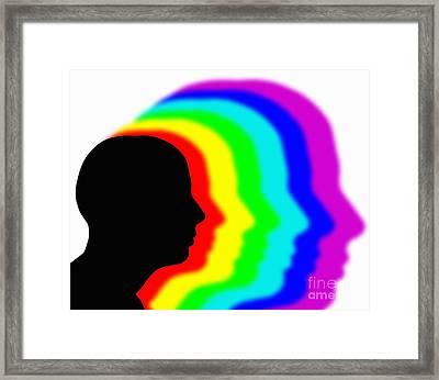 Conciousness, Conceptual Artwork Framed Print
