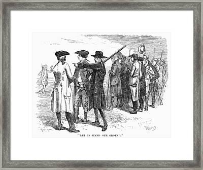 Concord: Minutemen, 1775 Framed Print by Granger