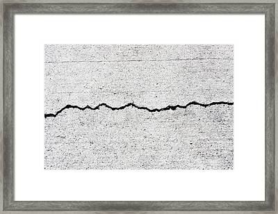 Concrete Cracks Framed Print by Jorgo Photography - Wall Art Gallery