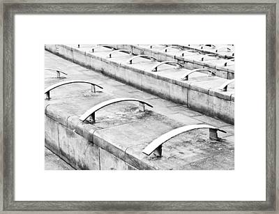 Concrete Seating Framed Print by Tom Gowanlock