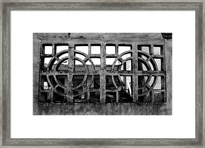 Concrete Window Framed Print by Christopher Lugenbeal
