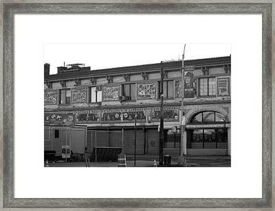 Coney Island Art In Black And White Framed Print
