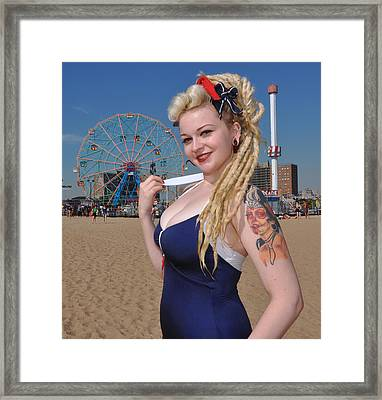 Coney Island Framed Print by Jim Poulos