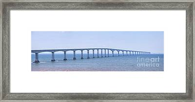 Confederation Bridge Panorama Framed Print by Elena Elisseeva