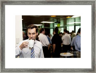 Conference Coffee Break Framed Print by Jorgo Photography - Wall Art Gallery