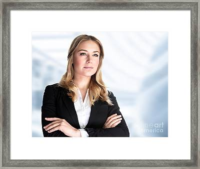 Confident Business Woman Framed Print