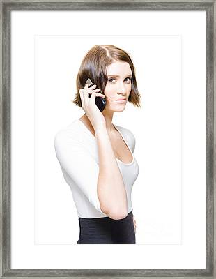 Confident Sales Representative Selling Business Deals Framed Print by Jorgo Photography - Wall Art Gallery