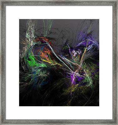 Framed Print featuring the digital art Conflict by David Lane