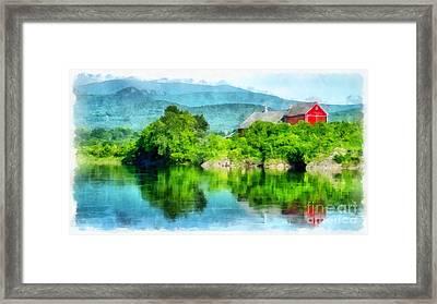 Connecticut River Farm Framed Print by Edward Fielding