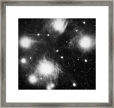Constellation Of Pleiades Framed Print by Universal History Archive/uig