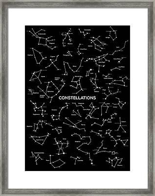 Constellations Framed Print by Taylan Apukovska
