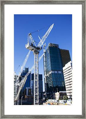 Construction City Framed Print by Jorgo Photography - Wall Art Gallery