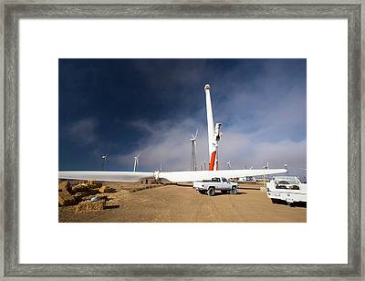Construction Work At The Tehachapi Pass Framed Print by Ashley Cooper