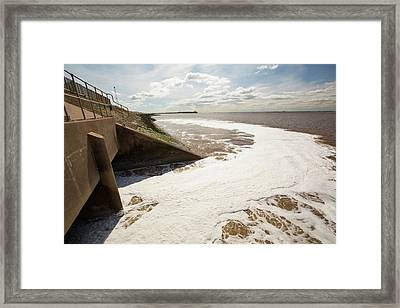 Contaminated Water Entering The Humber Framed Print