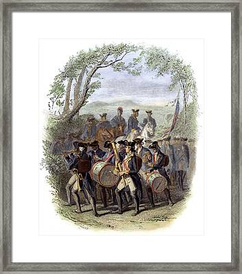 Continental Army Band Framed Print by Granger