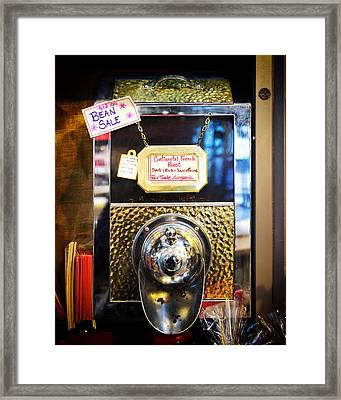 Continental French Roast Framed Print